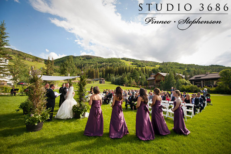 Liz And Wade S Vail Wedding At The Larkspur Lawn Four Seasons
